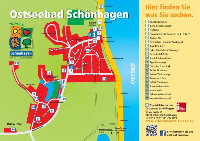 Ortsplan von Schönhagen © Touristinformation Schönhagen