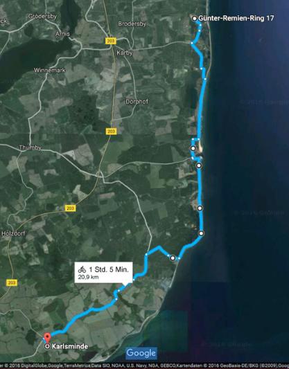 Fahrradweg zum Langbett Karlsminde